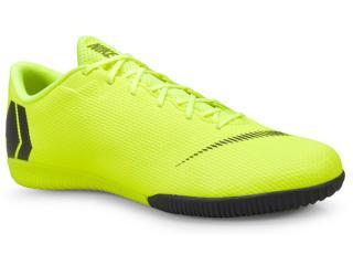 Tênis Masculino Nike Ah7383-701 Vaporx 12 Academy ic Indoor Limão/preto - Tamanho Médio