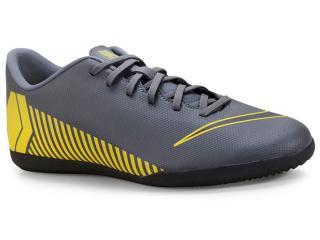 Tênis Masculino Nike Ah7385-070 Mercurial Vaporx 12 Club Cinza/amarelo - Tamanho Médio