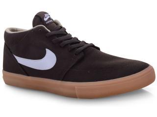 Tênis Masculino Nike Aq7728-200 sb Portmore ii Slr m Cnvs Marrom/branco - Tamanho Médio