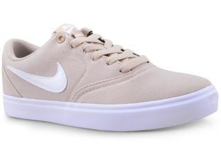 Tênis Feminino Nike 921463-201 sb Check Solar Soft Canvas Bege/branco - Tamanho Médio