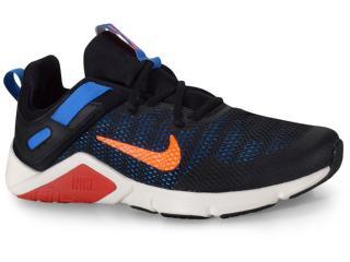 Tênis Masculino Nike Cd0443-003 Legend Essential Preto/azul - Tamanho Médio