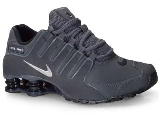 Tênis Masculino Nike 378341-059 Shox nz  Grafite - Tamanho Médio