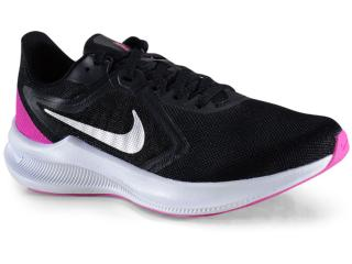 Tênis Feminino Nike Ci9984-004 Downshifter 10 Preto/branco/pink - Tamanho Médio