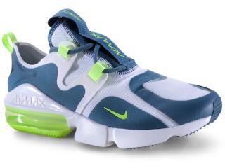 Tênis Masculino Nike Bq3999-104 Air Max Infinity Branco/azul/limão - Tamanho Médio