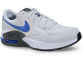 Tênis Masculino Nike Cd4165-007 Air Max Excee Cinza/azul - Tamanho Médio