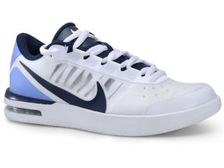 Tênis Masculino Nike Bq0129-106 Court Air Max Vapor Wing Branco/preto/azul - Tamanho Médio