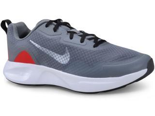 Tênis Masculino Nike Cj1682-001 Wearallday Cinza/vermelho - Tamanho Médio