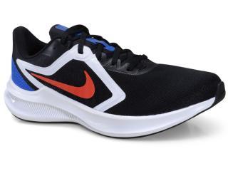 Tênis Masculino Nike Ci9981-007 Downshifter 10 Preto/azul/vermelho - Tamanho Médio