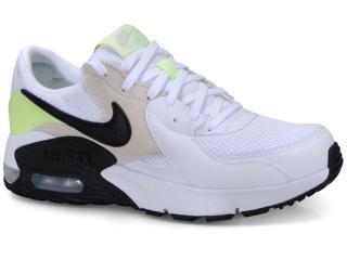 Tênis Feminino Nike Cd5432-105 Air Max Excce Branco/cinza/limão - Tamanho Médio