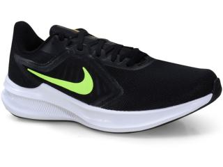 Tênis Masculino Nike Ci9981-009 Downshifter 10 Preto/limão - Tamanho Médio