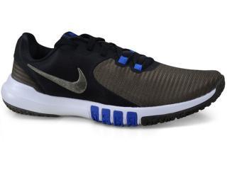 Tênis Masculino Nike Cd0197-008 Flex Control Tr4 Preto/musgo/azul - Tamanho Médio