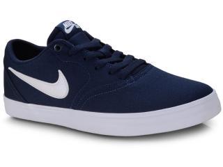Tênis Masculino Nike 843896-404 sb Check Solar Cnvs Marinho/branco - Tamanho Médio