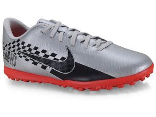 Tênis Masculino Nike At8000-006 Mercurial Vapor 13 Club Njr tf Cinza/coral - Tamanho Médio