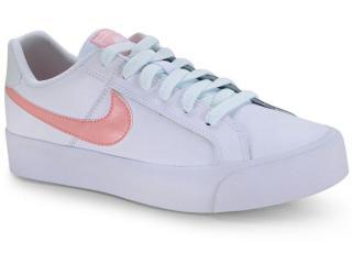Tênis Feminino Nike Ao2810-107 Court Royale Branco/coral - Tamanho Médio