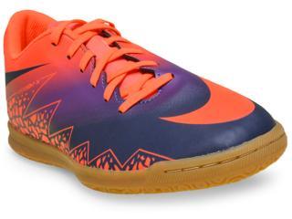 Tênis Masculino Nike 749890-845 Hypervenom Phade ii ic Laranja/roxo - Tamanho Médio