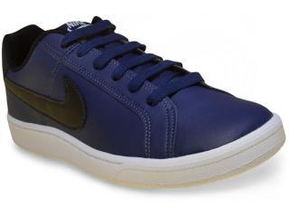 Tênis Masculino Nike 749747-400 Court Royale  Azul/preto/branco - Tamanho Médio