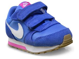 Tênis Fem Infantil Nike 807328-404 md Runner 2 Azul/rosa - Tamanho Médio