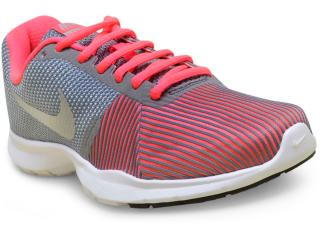 Tênis Feminino Nike 881863-006 Flex Bijoux Cinza/rosa Neon - Tamanho Médio