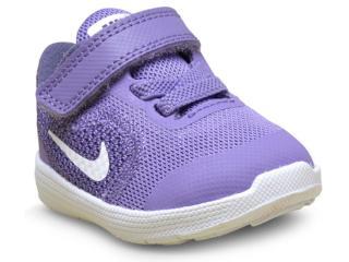 Tênis Fem Infantil Nike 819418-501 Revolution 3 Lilas - Tamanho Médio