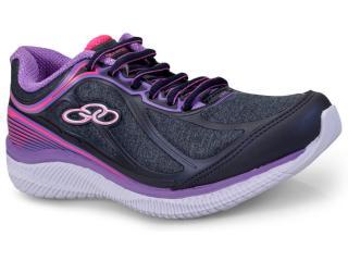 Tênis Feminino Olympikus Actual 422 Marinho/violeta - Tamanho Médio