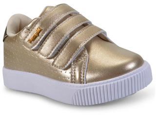 Tênis Fem Infantil Pampili 435.008 Dourado - Tamanho Médio