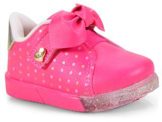 Tênis Fem Infantil Pampili 471.003 Pink Batom - Tamanho Médio