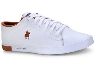 Tênis Masculino Polo Bhpf111 Branco/cobre - Tamanho Médio