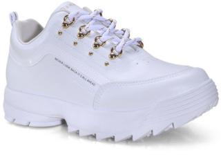 Tênis Feminino Ramarim 21-75101 Branco/ouro - Tamanho Médio