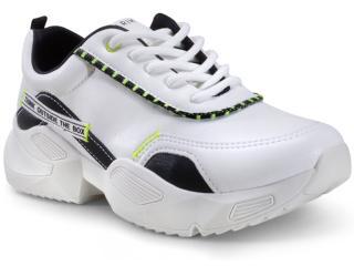 Tênis Feminino Ramarim 20-82231 Branco/preto Neon - Tamanho Médio