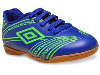 Tênis Masc Infantil Umbro Of82031 355 id Kicker Iii jr Azul/verde - Tamanho Médio