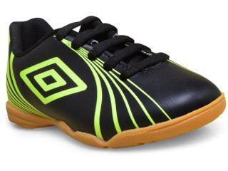 Tênis Masc Infantil Umbro Of82037 166 Footwear Sprint jr  Preto/limão - Tamanho Médio