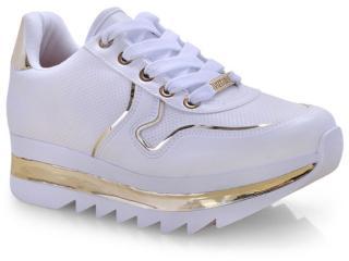 Tênis Feminino Vizzano 1319101 Branco/dourado - Tamanho Médio