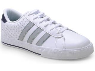 Tênis Masculino Adidas F39045 se Daily Vulc Branco/cinza - Tamanho Médio