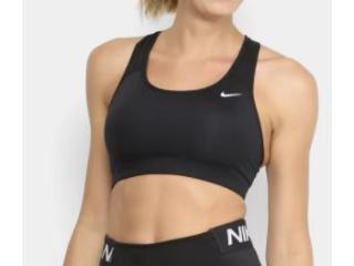 Top Feminino Nike Bv3630-010 Dri-fit Swoosh Preto - Tamanho Médio
