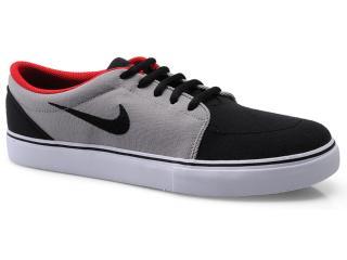 Tênis Masculino Nike 555380-062 Satire Canvas Preto/cinza/vermelho - Tamanho Médio
