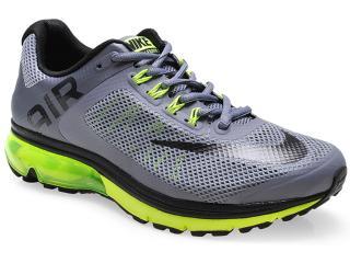 Tênis Masculino Nike 555331-020 Air Max Excellerate+ 2 Cinza/preto/limão - Tamanho Médio