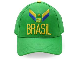 Boné Unisex Adidas D84378 3s Brasil Verde - Tamanho Médio