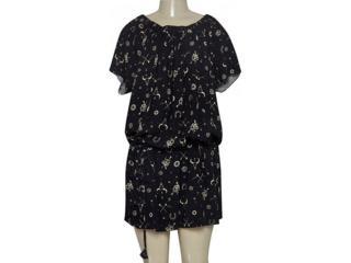 Vestido Feminino Cavalera Clothing 11.01.1198 Preto Estampado - Tamanho Médio