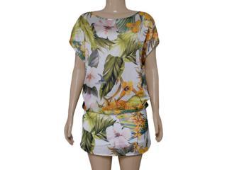 Vestido Feminino Coca-cola Clothing 443201734 Off White/floral - Tamanho Médio