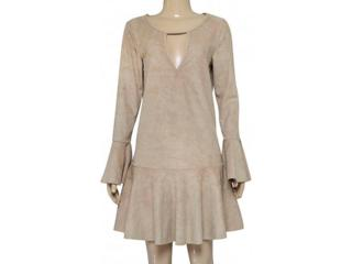 Vestido Feminino Coca-cola Clothing 443202090 Bege Macadam - Tamanho Médio