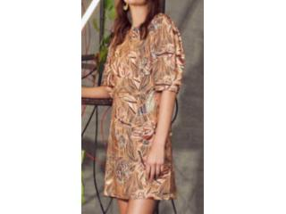 Vestido Feminino Colcci 440110909 Vc303 Bege Estampado - Tamanho Médio