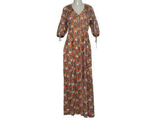 Vestido Feminino Dona Florinda 63355 Marrom - Tamanho Médio