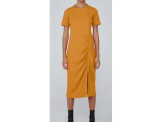 Vestido Feminino Dzarm 6qr2 Ytyen Mostarda - Tamanho Médio