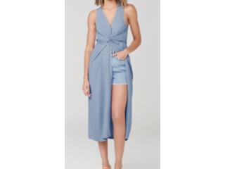 Vestido Feminino Dzarm Zatd Az3en Azul - Tamanho Médio