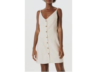 Vestido Feminino Hering K4ed 1dsi Off White - Tamanho Médio