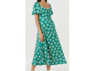Vestido Feminino Hering Ha6h 1cen Verde - Tamanho Médio