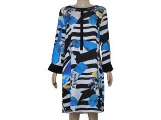 Vestido Feminino Maria Valentina 103137 Estampado - Tamanho Médio
