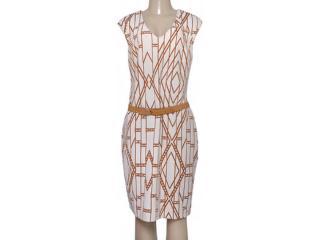 Vestido Feminino Maria Valentina 103675 Bege/marrom - Tamanho Médio