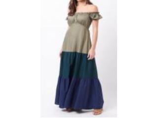 Vestido Feminino Mercatto 2837188 113 Verde/marinho - Tamanho Médio