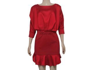Vestido Feminino Moikana 150161 Vermelho - Tamanho Médio